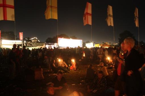Crowds chilling outside Jazz World