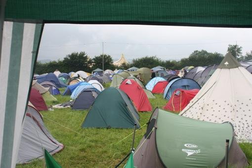 The John Peel tent in the backgorund