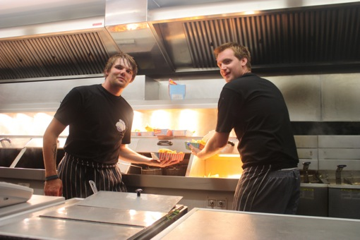 The fish and chip boys show their wares